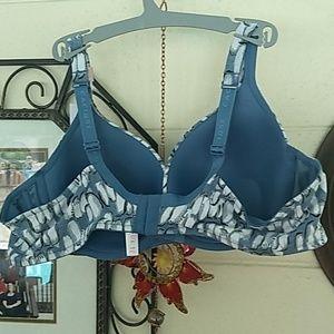 Cacique Intimates & Sleepwear - Penguin Patterned Cotton Plunge Bra NWT 44B